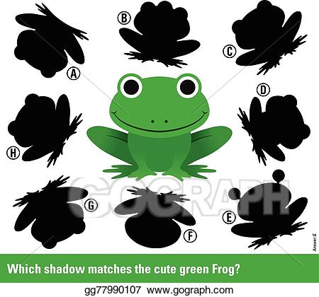 Vector stock which matches. Clipart frog shadow