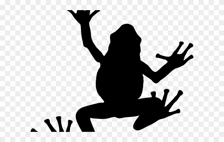 Clipart frog shadow. Silhouette png download