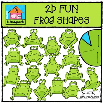 Frogs clipart shape.  d fun frog