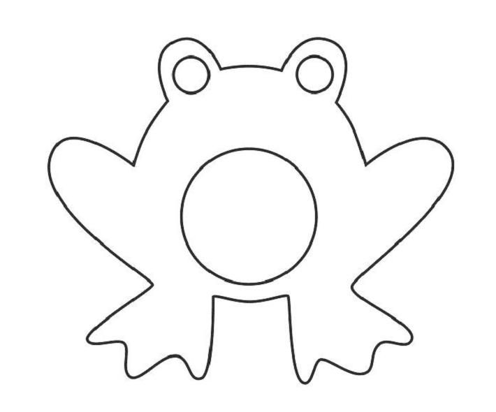 Frogs clipart shape. Frog on pinterest crafts