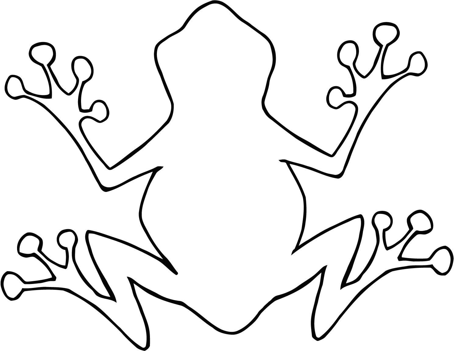 Tree frog outline panda. Frogs clipart shape