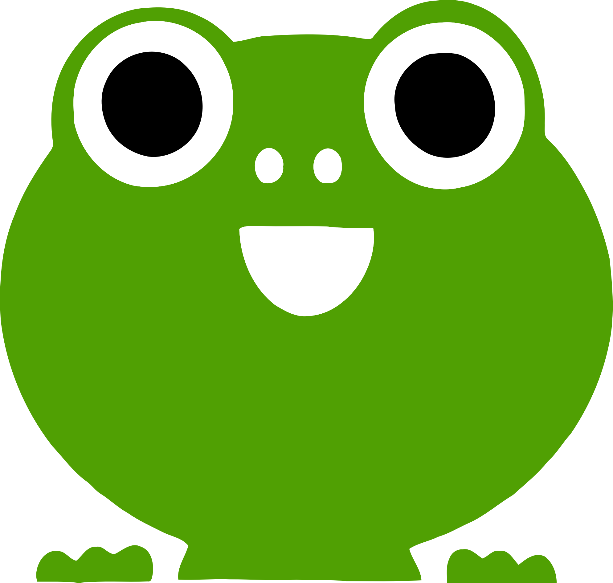 Frog icon. Frogs clipart sign