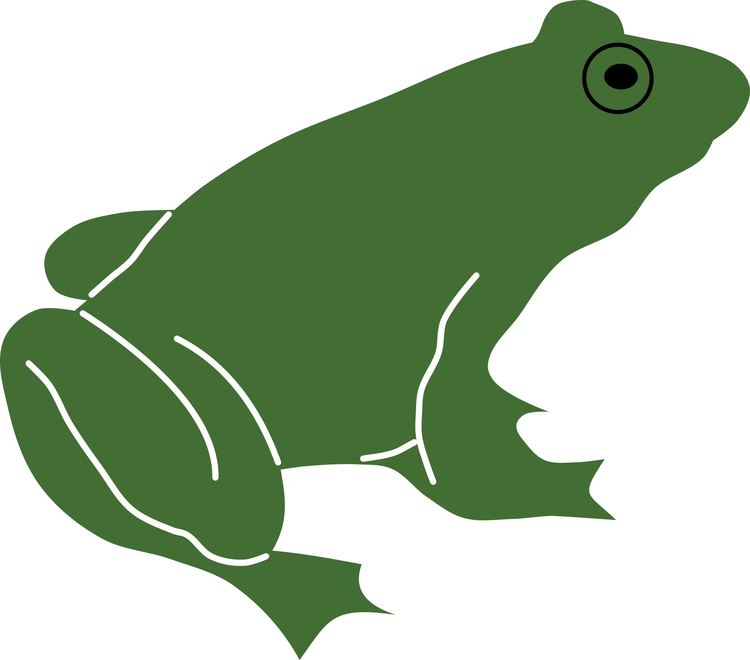 Frog by rones big. Frogs clipart muscular