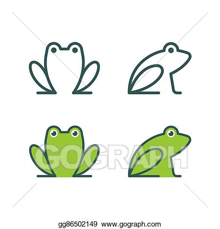 Frogs clipart simple. Vector art frog icon