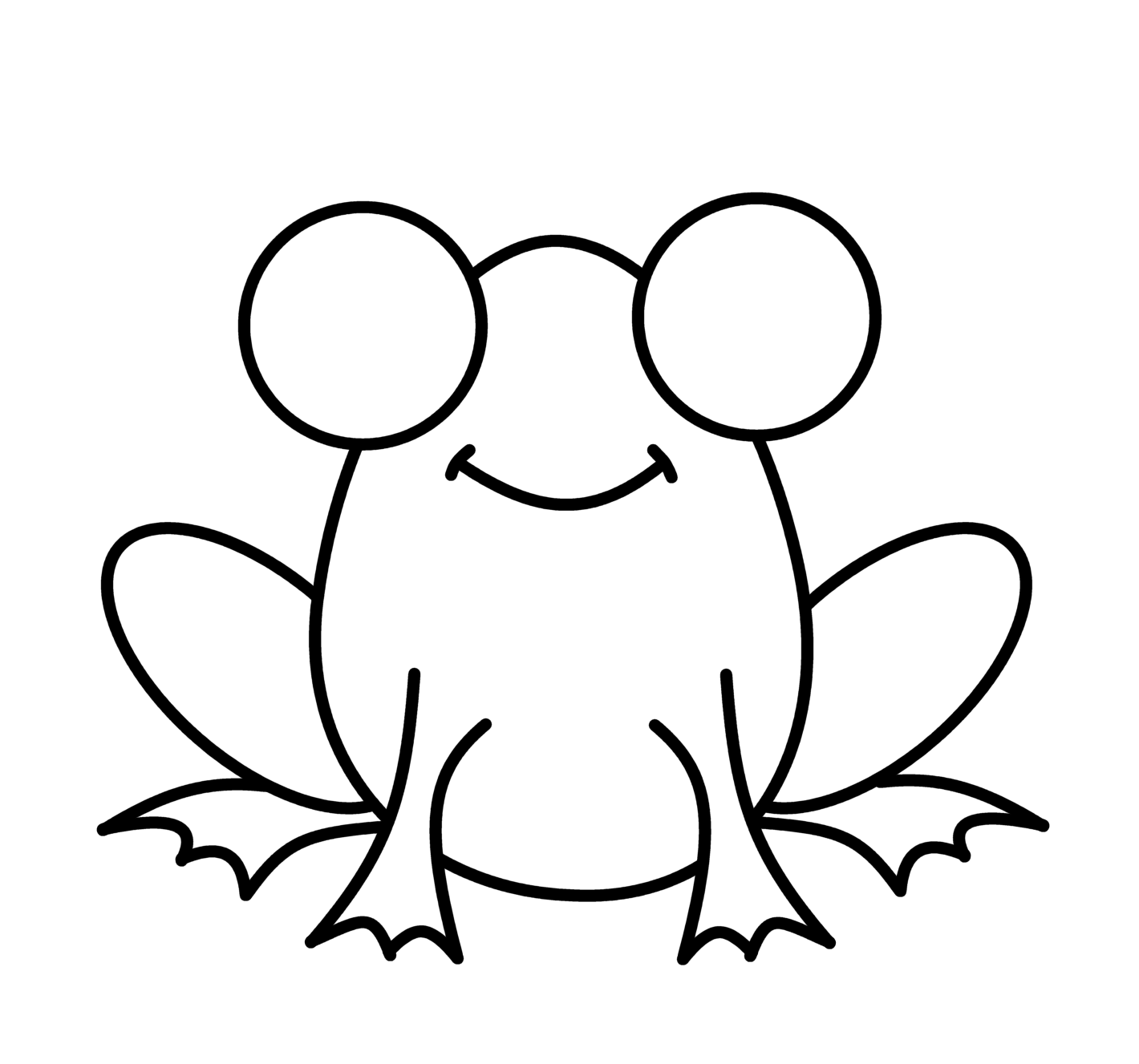 Free how to draw. Clipart frog sketch