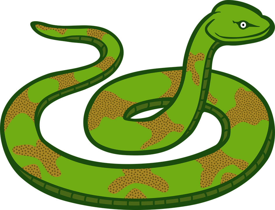 A childhood of hunting. Clipart snake wild animal