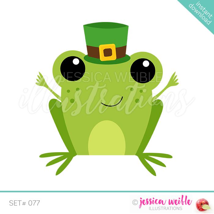 Patrick s . Clipart frog st patricks day