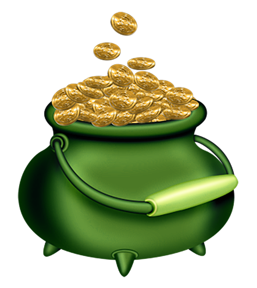 St patricks day green. Coin clipart cold