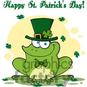 Royalty free rf copyright. Clipart frog st patricks day