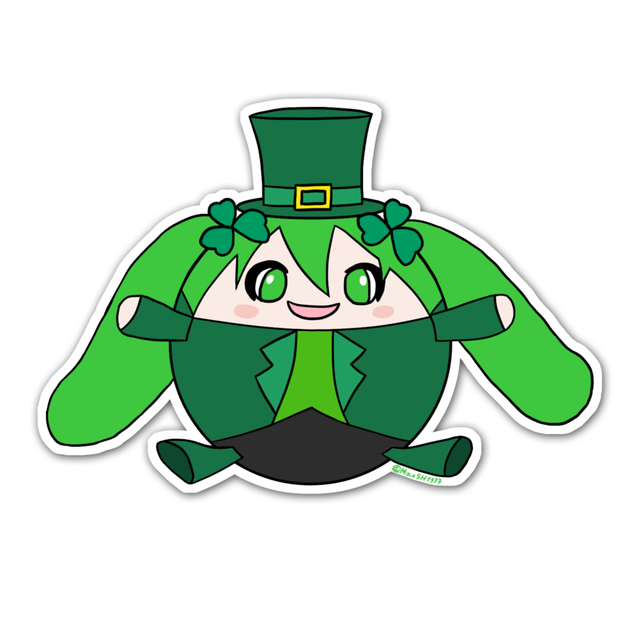 Clipart frog st patricks day. Squishable miku patrick s
