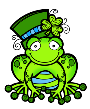 Pin by lori bechtel. Clipart frog st patricks day