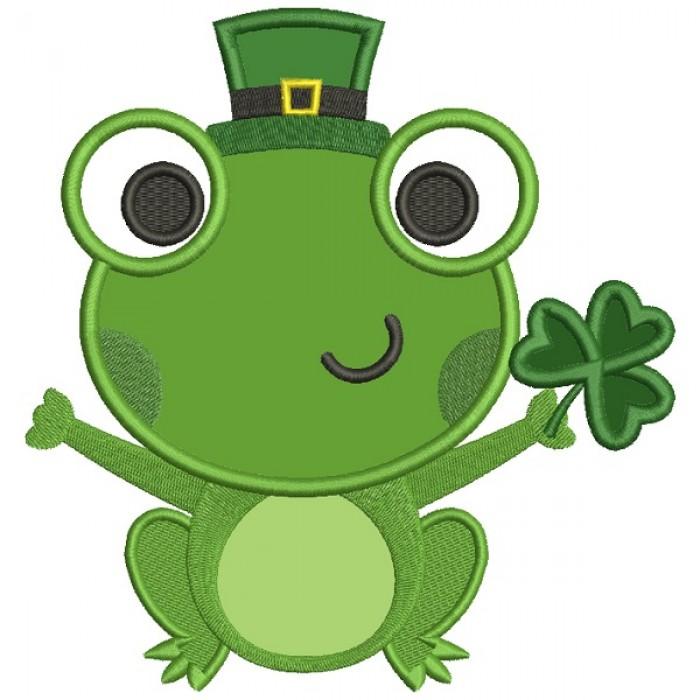 Clipart frog st patricks day. Lucky with shamrock irish