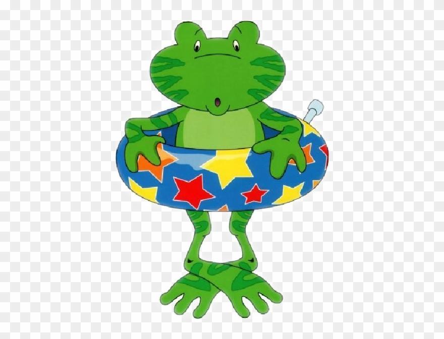 Clipart frog summer. Funny cartoon animal clip