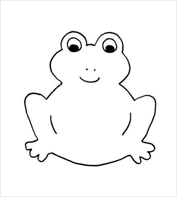Clipart frog template. Animal templates free premium