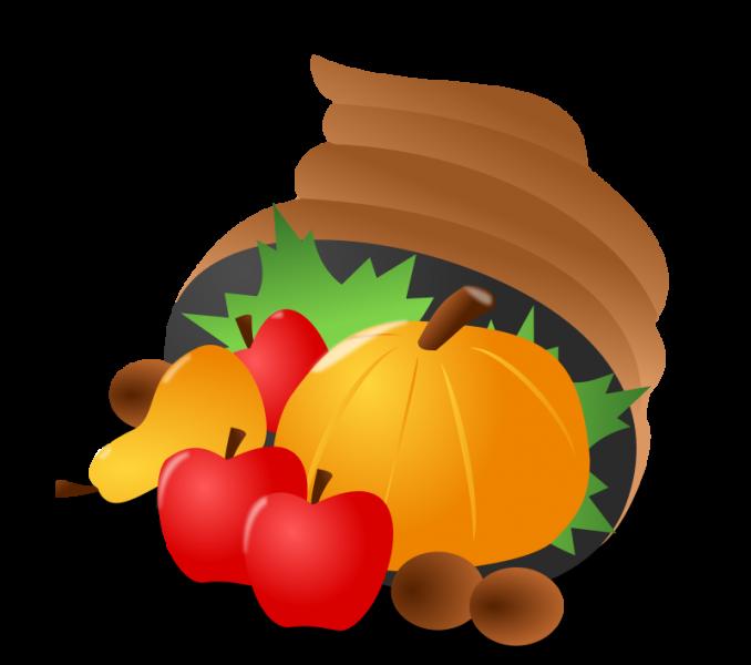 Thanksgiving horn of free. Cornucopia clipart plenty