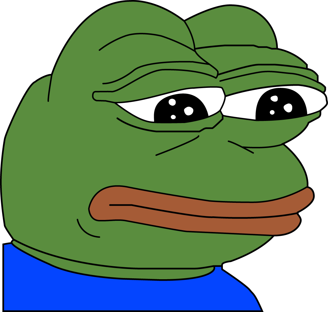 Sad pepe album on. Tired clipart frog