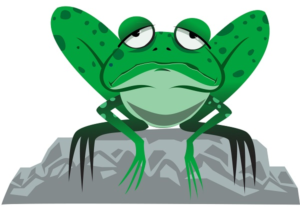 . Frog clipart tired