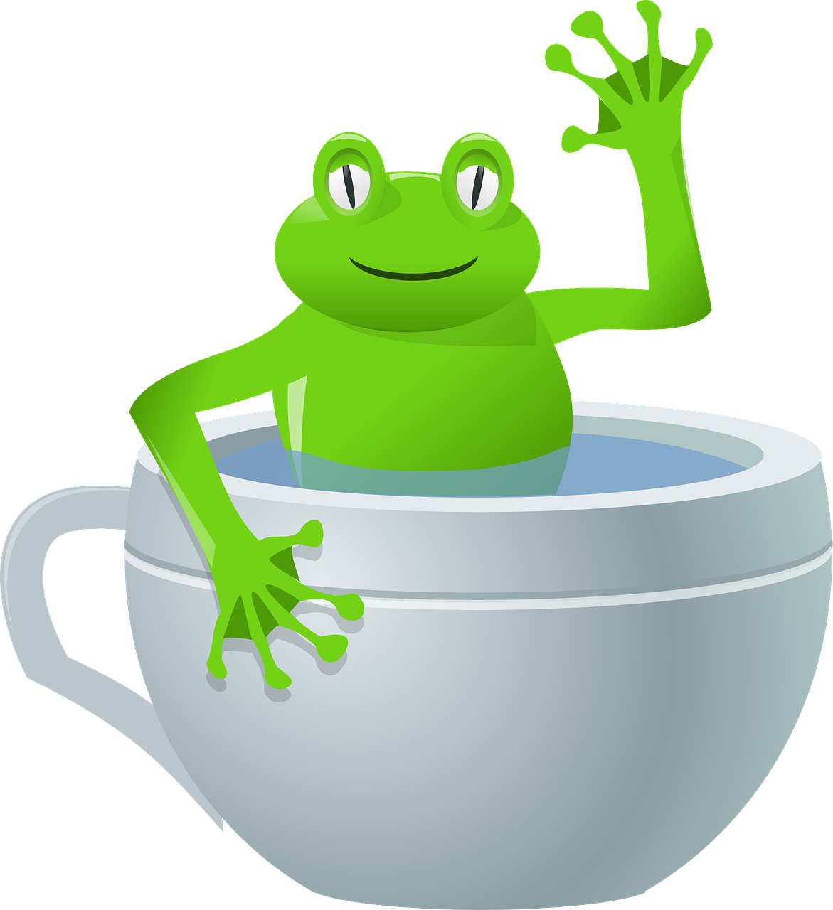 Tired clipart frog. Smile and wave naked