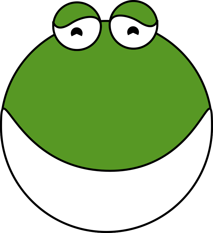 Free cute frog clip. Toad clipart face