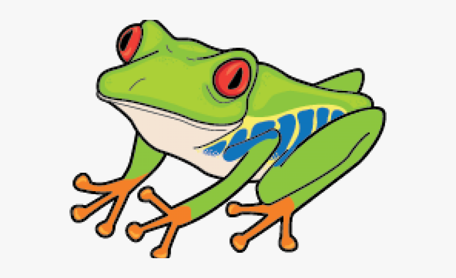 Frog clipart tree frog. Green lily pad red