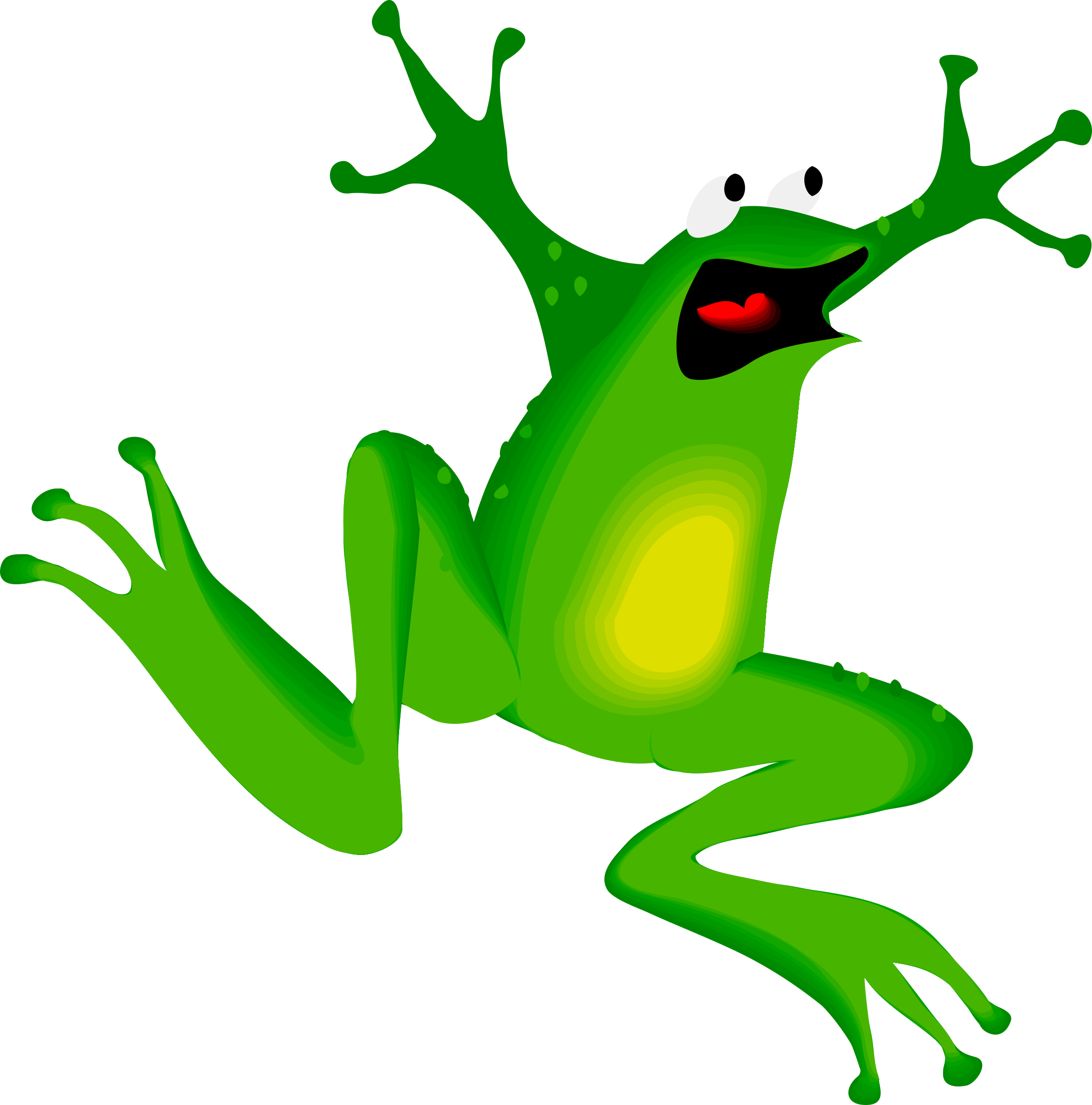Yelling clipart situation. Architetto rana frog big