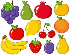 Fruits clipart. On joue a quoi