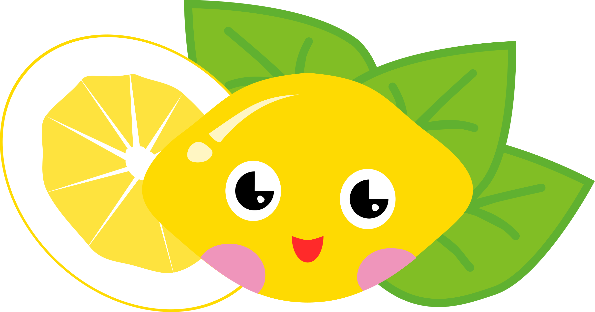 Leaf clipart face. Cartoon lemons group lemon