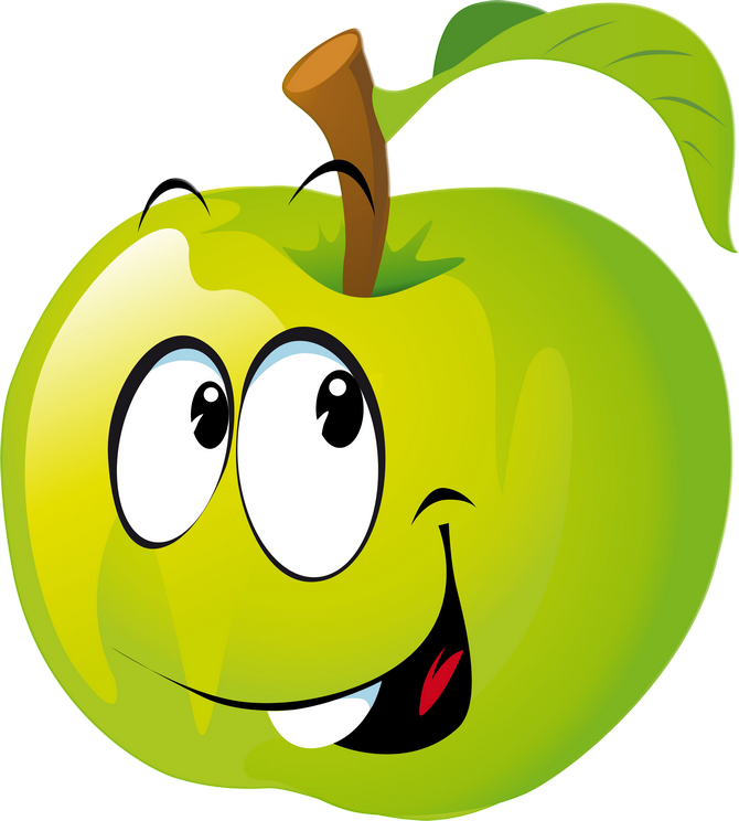 Clipart fruit alphabet. Funny png emoticon and
