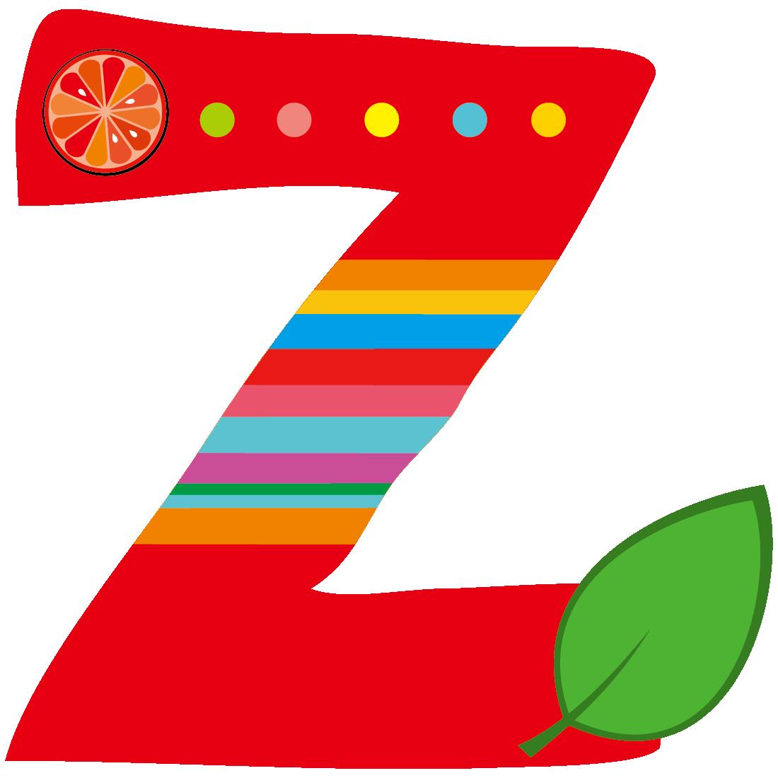 Z letter xc cartoon. Clipart fruit alphabet