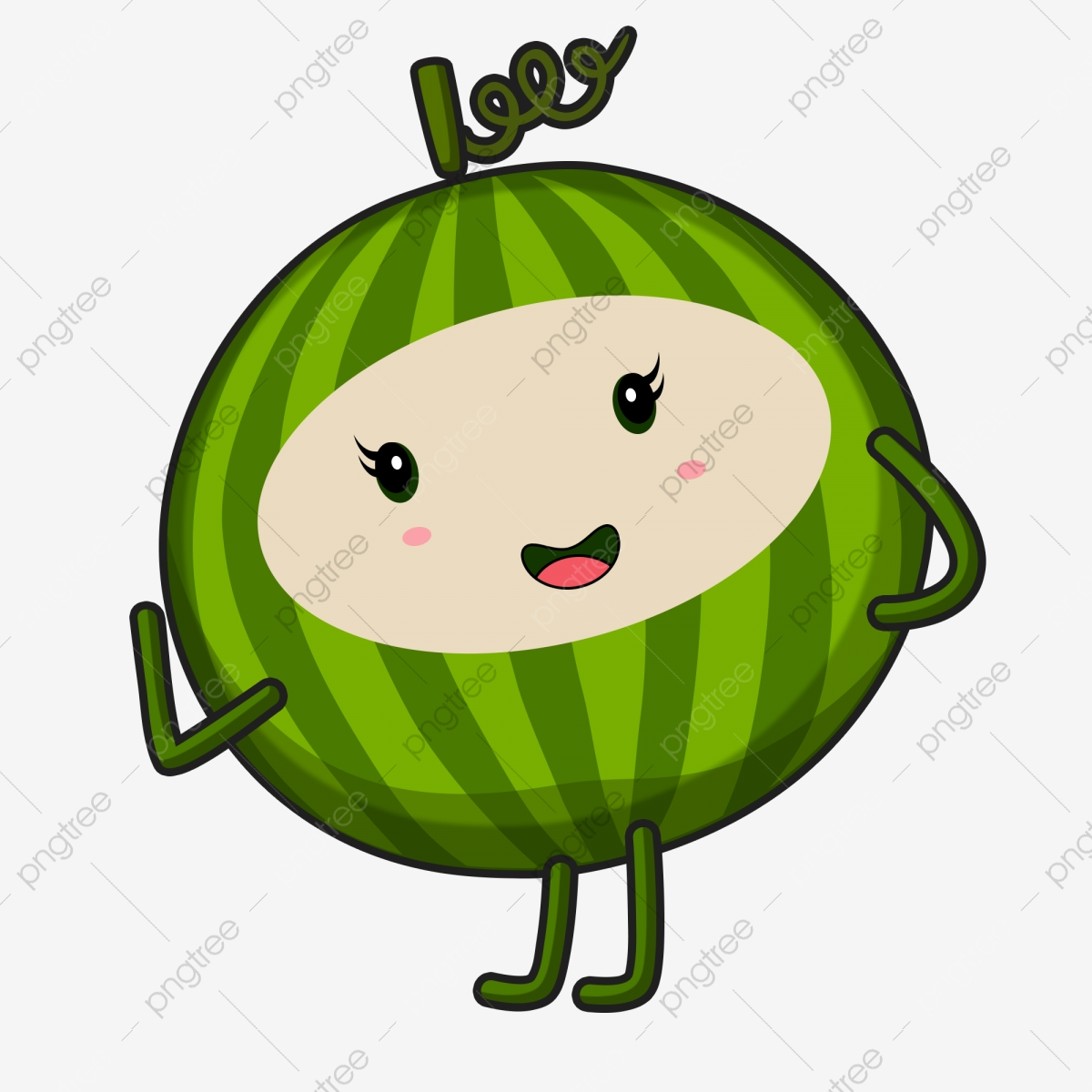 Cartoon summer cold drink. Watermelon clipart baby
