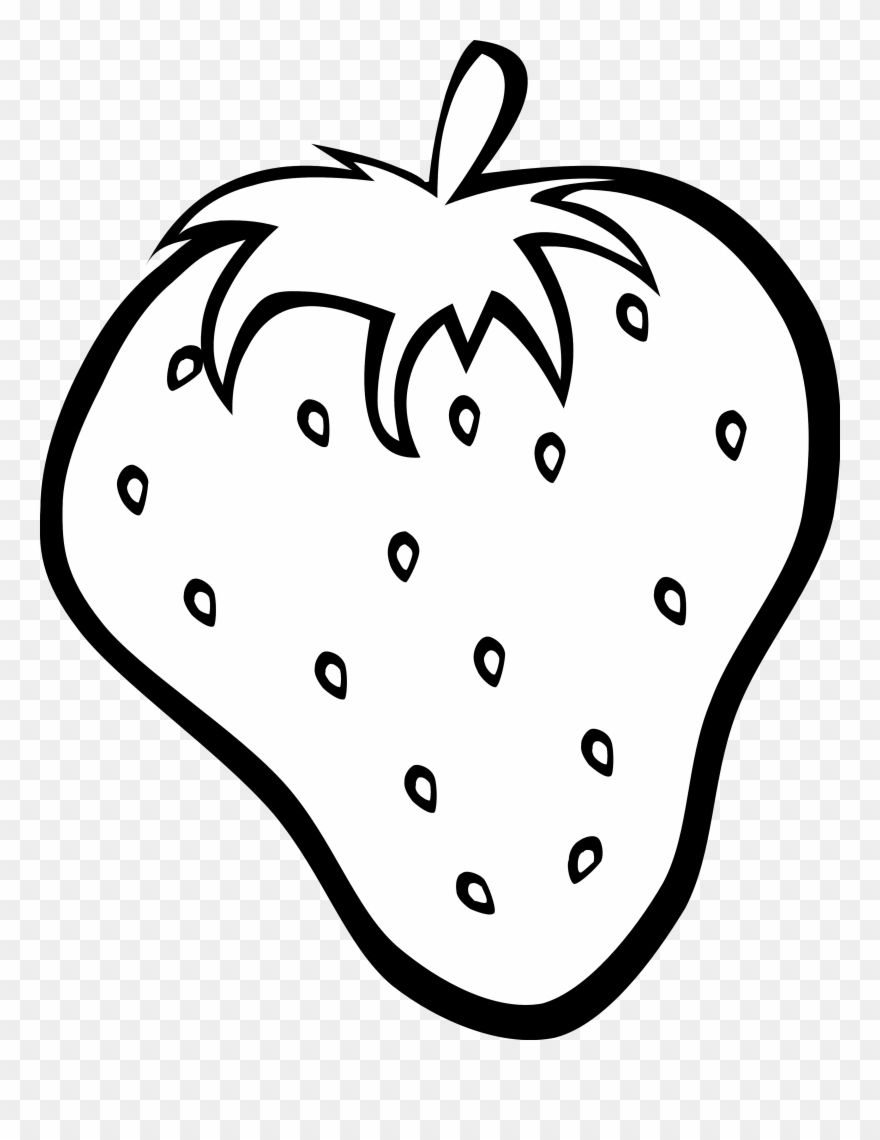 Fruit clipart black and white. Fruits coloring image of