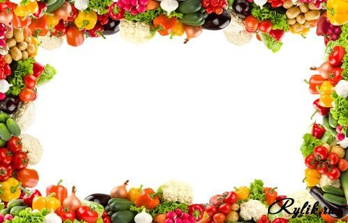 Best photos of fruit. Vegetables clipart border design