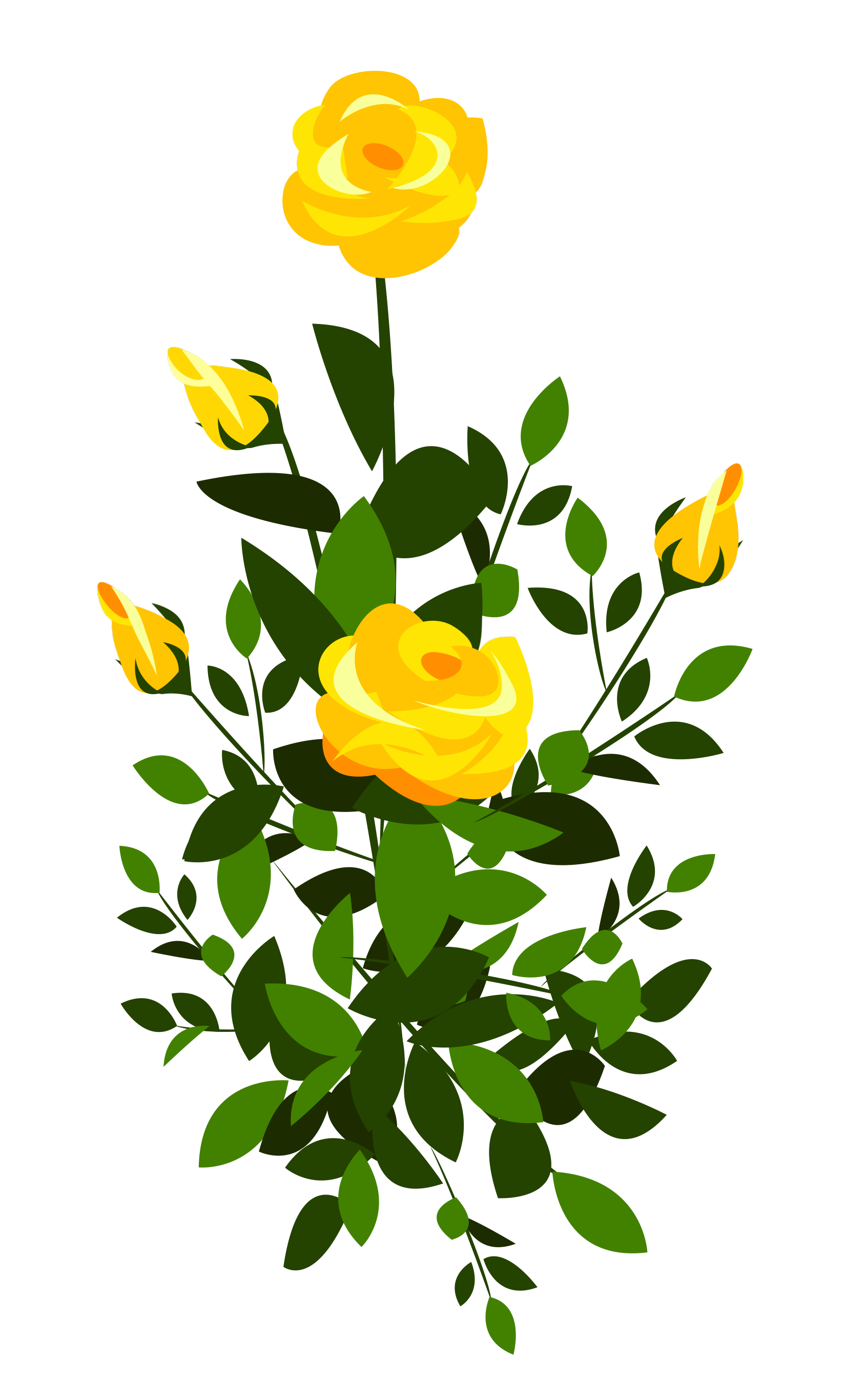 Clipart roses rose bush. Yellow png image gallery