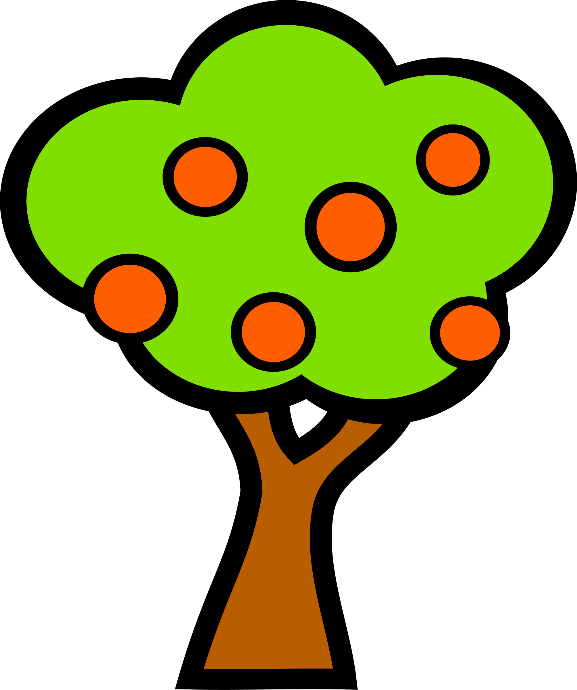 Tree clipart fruit. With fruits big image