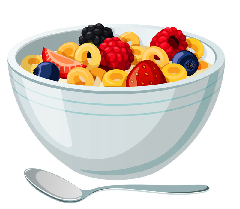 Fruits clipart cereal.  png food illustrations