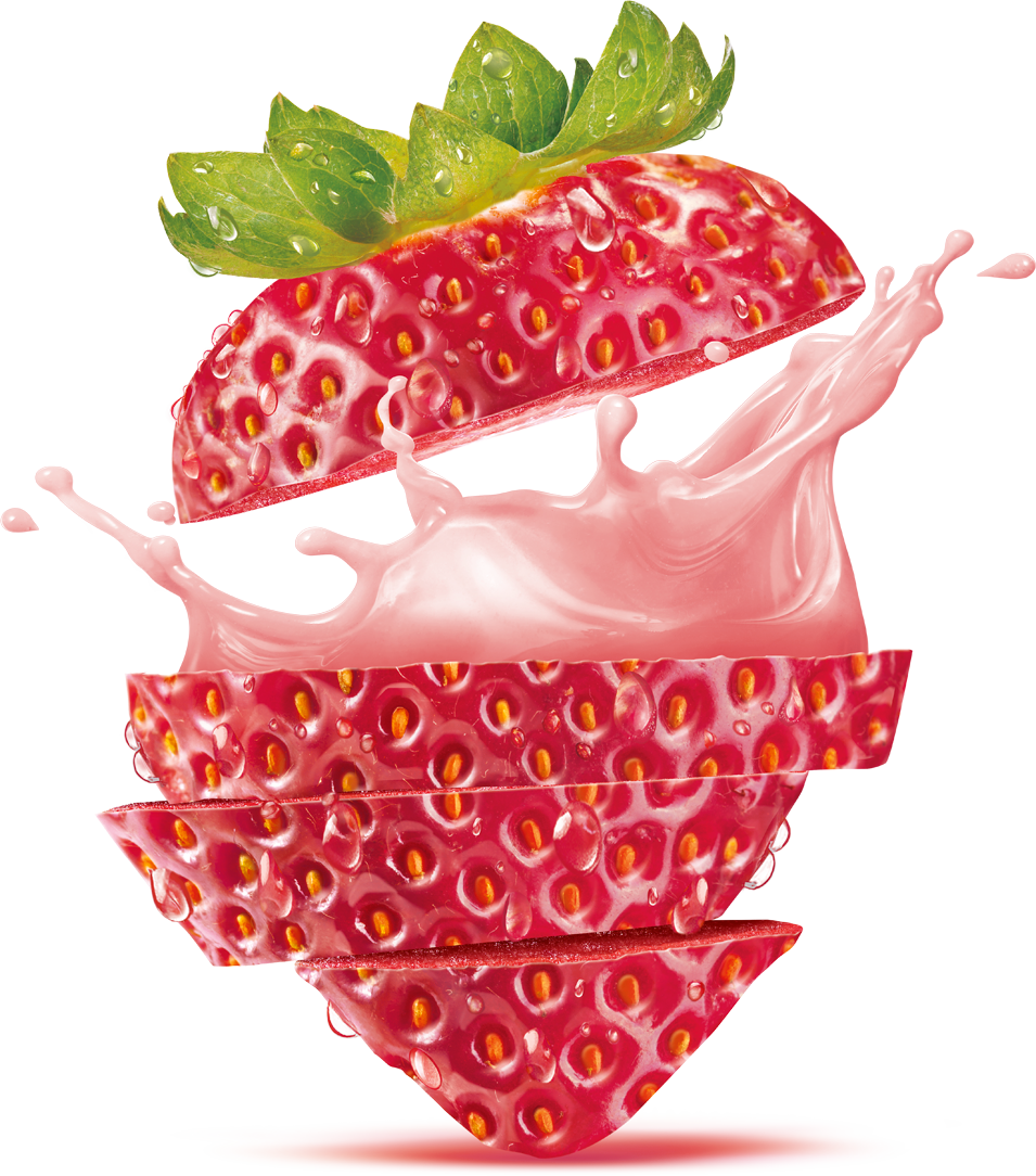 Juice strawberry breakfast flavor. Fruits clipart cereal