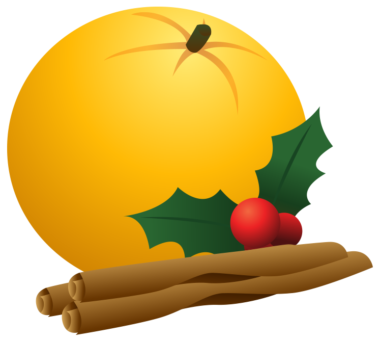Pencil and in color. Clipart fruit christmas