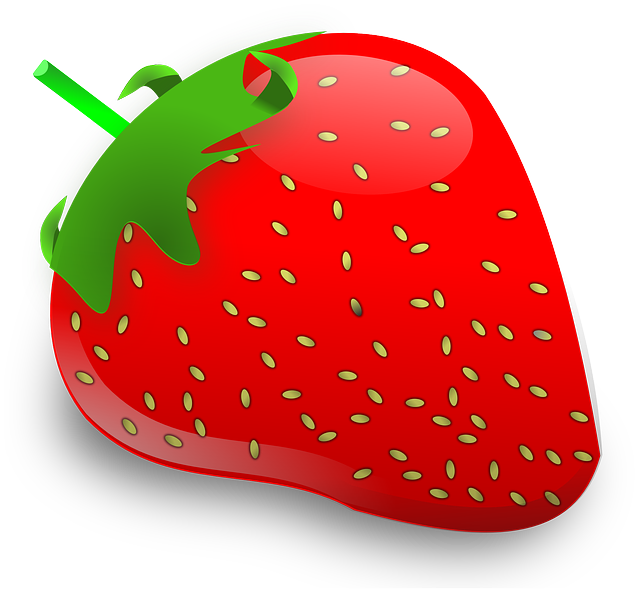 Fruits clipart cute. Strawberry panda free images