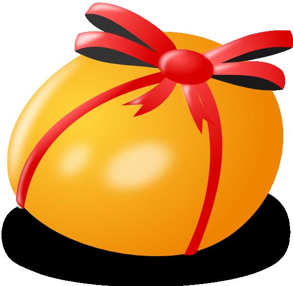 Clipart present orange. Easter egg clip art