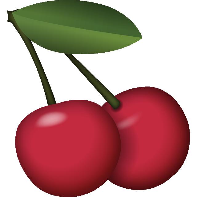 Download cherry icon island. Emoji clipart fruit