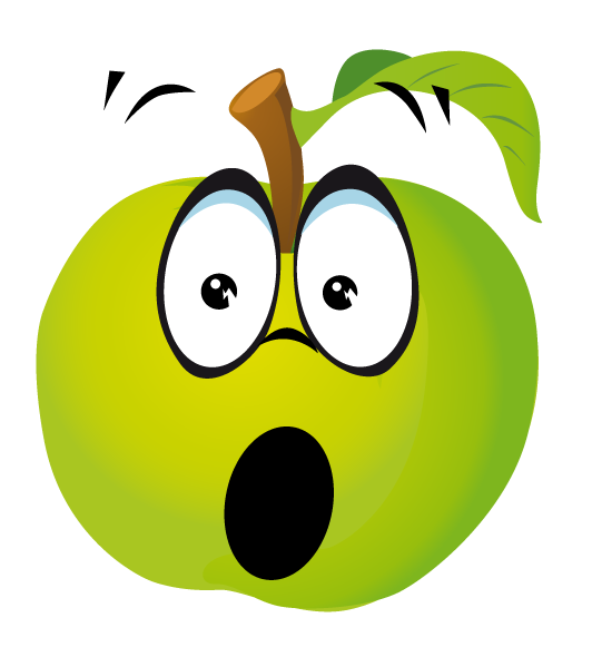 fruits clipart smiley face