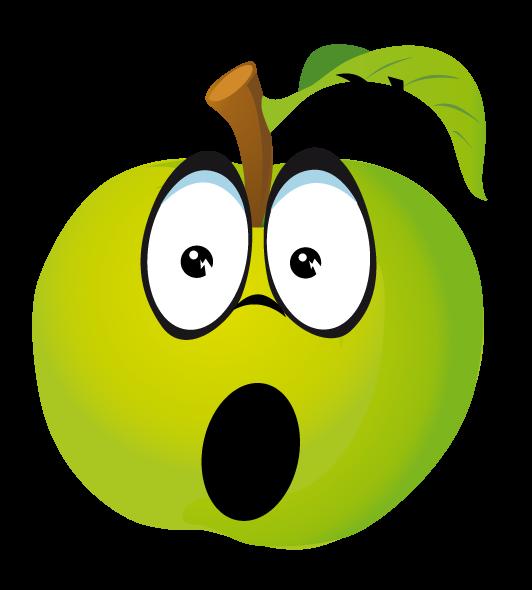 Clipart fruit emotion. Fruits et legumes page