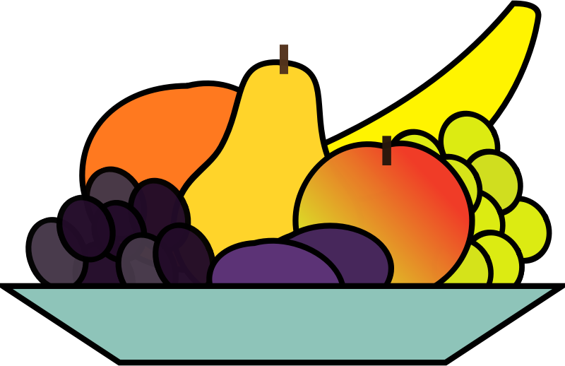 Fruits clipart local fruit. Plate medium image png