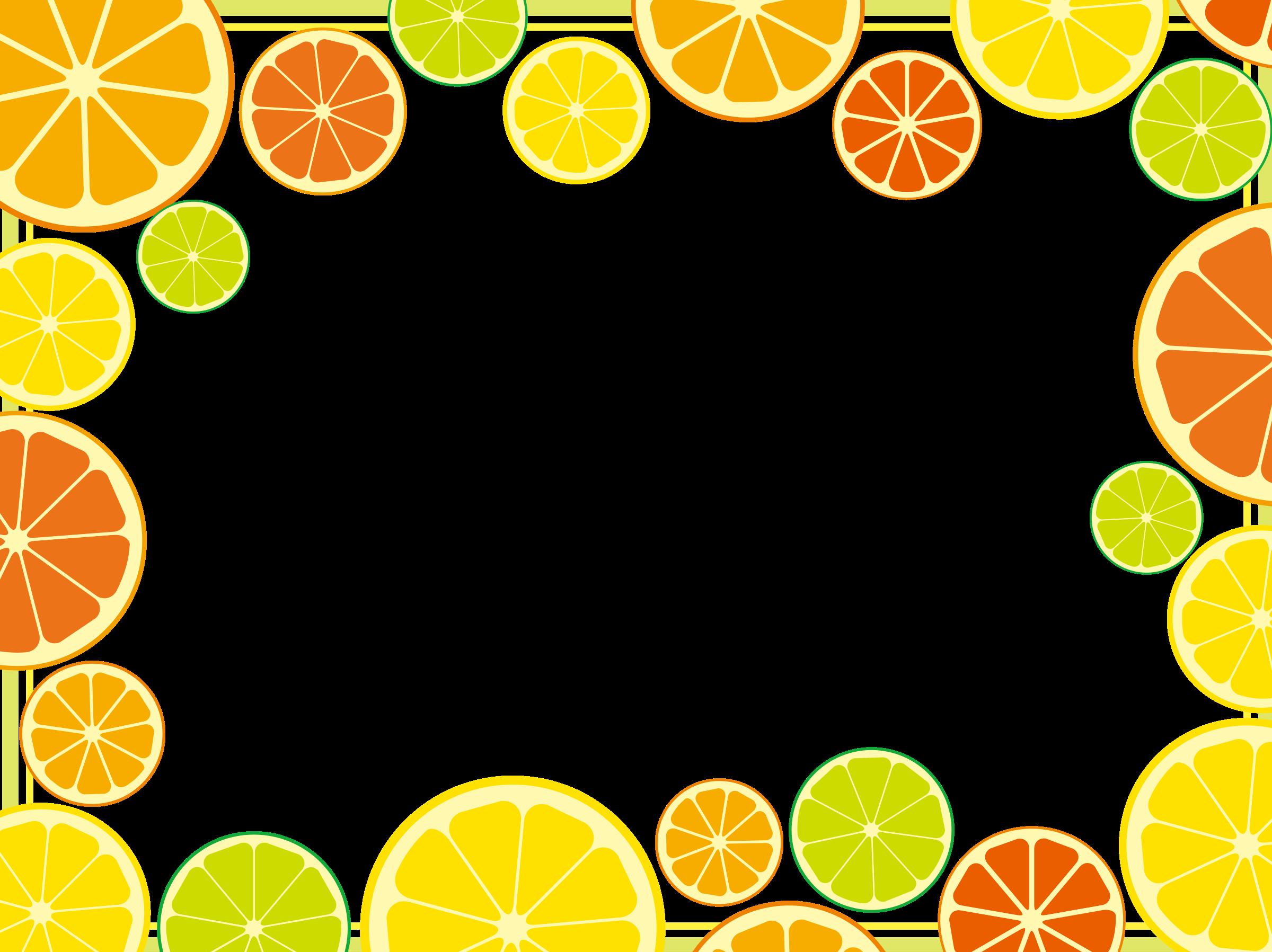 Citrus big image png. Clipart fruit frame