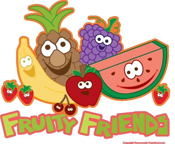 Free . Clipart fruit friend
