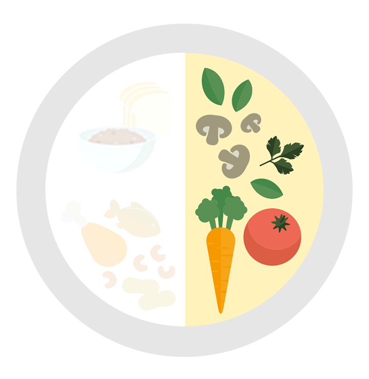 Clipart fruit fruit plate. My healthy fill half