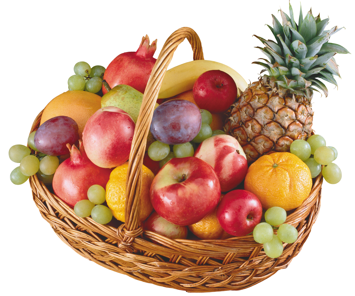 Heart clipart fruit. Basket with fruits png