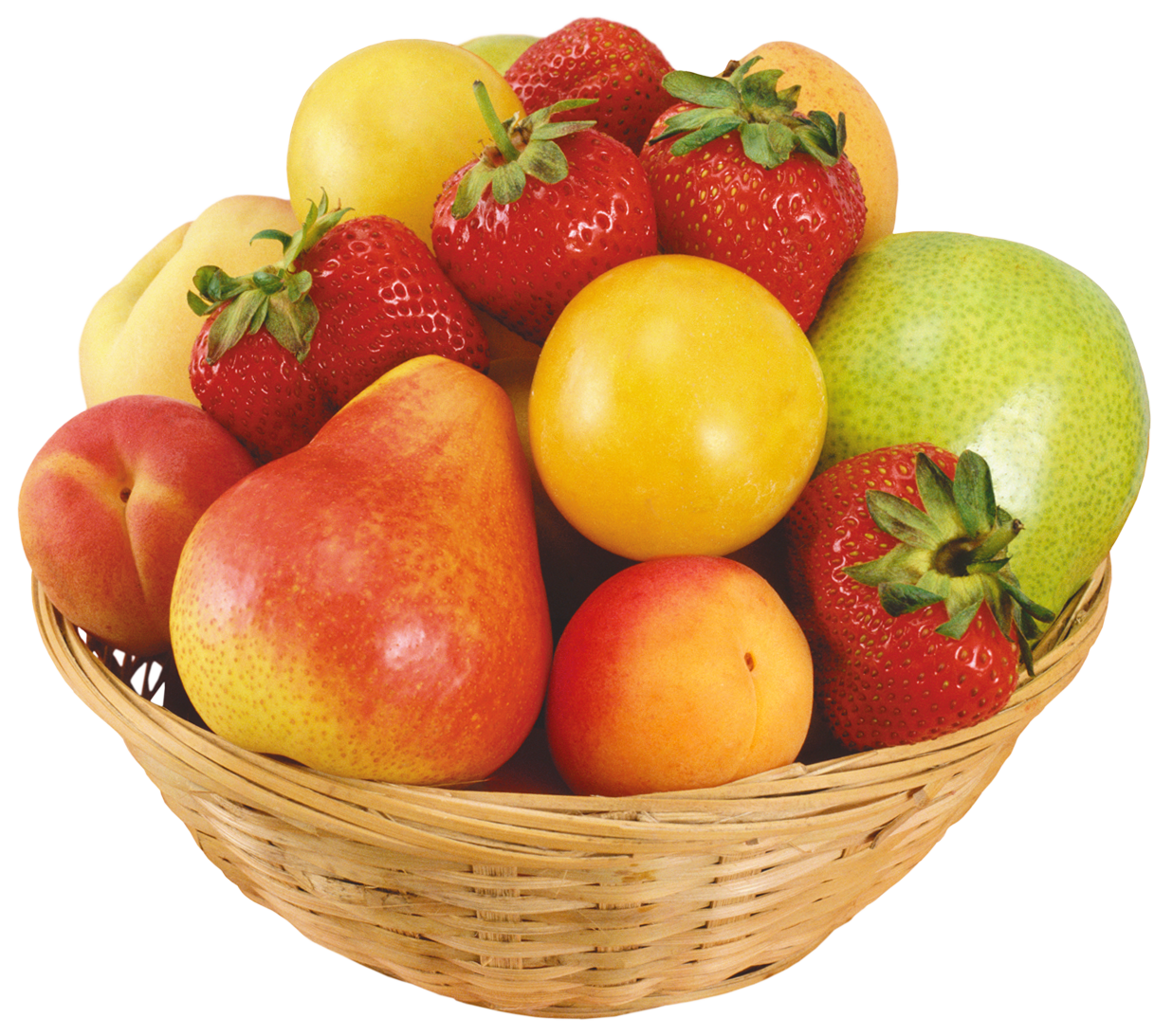 In wicker bowl png. Fruits clipart local fruit