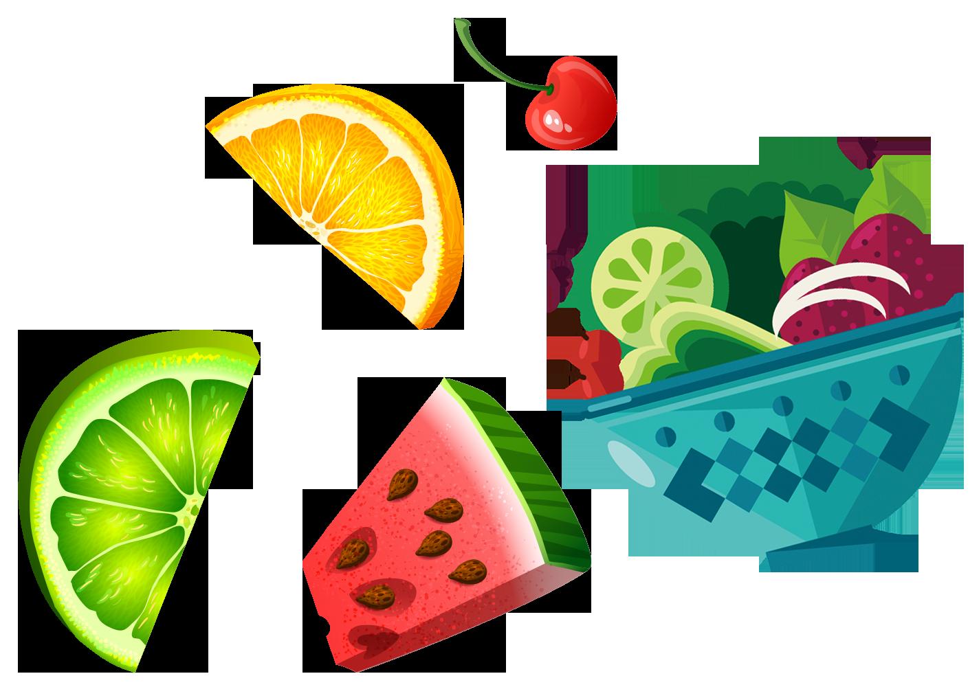 Sticks salad cartoon fruits. Watermelon clipart green fruit vegetable