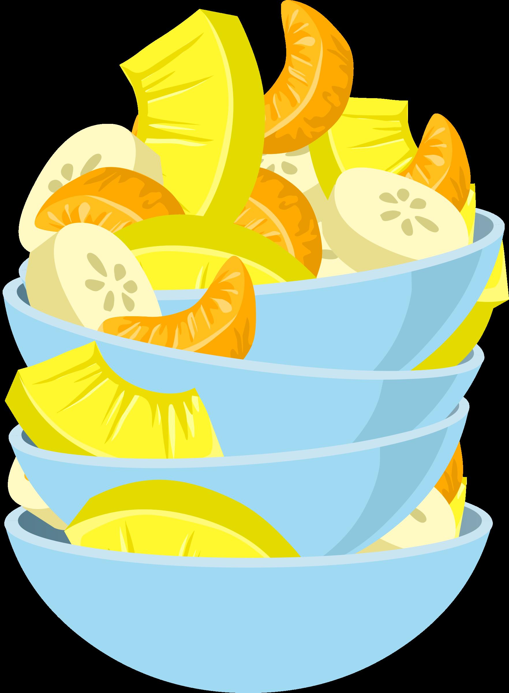Fruit clipart food. Exotic salad big image